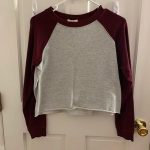 Red and Grey Sweatshirt Forever 21
